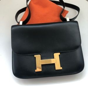 Hermès Vintage Black Constance 23